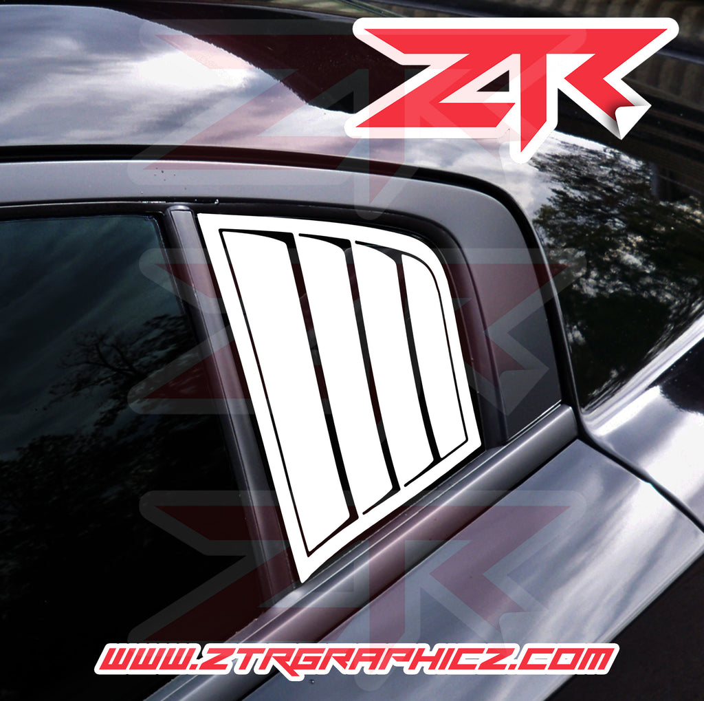 Dodge Charger 3rd Window Simulated Louvers Vinyl Decal Kit