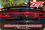 2011-2014 Dodge Charger Taillight Partial Blackout Tint Kit