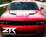 Dodge Challenger Headlight Claw Scratch Mark Decal Graphic Sticker