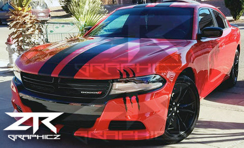Dodge Charger Headlight Claw Scratch Mark Decal Graphic