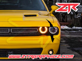 Dodge Challenger Headlight Single Claw Scratch Mark Decal Graphic Sticker