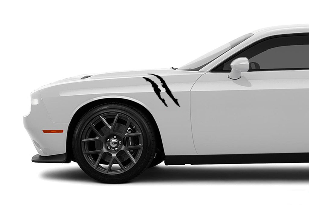 Dodge Challenger Claw Scratched Fender Stripes, Hash Mark, Vinyl Decal Kit
