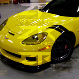Chevy Corvette Dual Fender Stripe, Hash Mark, Stripe Decal Graphic Kit - ztr graphicz  - 1