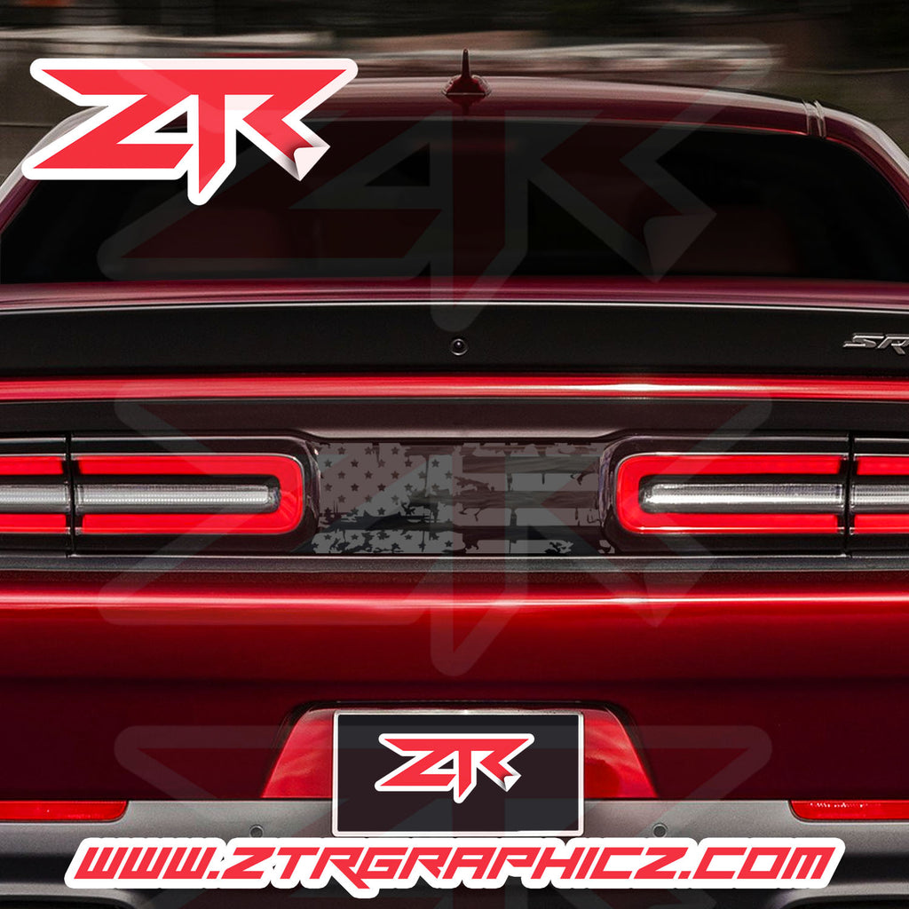 2015-2020 Dodge Challenger USA Distressed Flag Taillight Divider Decal