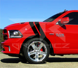 Dodge Ram Dual Fender Stripe, Hash Mark,  RT 1500 Stripe Decal Graphic Kit - ztr graphicz  - 1