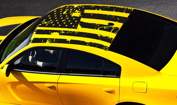 2006 2019 Dodge Charger American Usa Flag Roof Decal Ztr