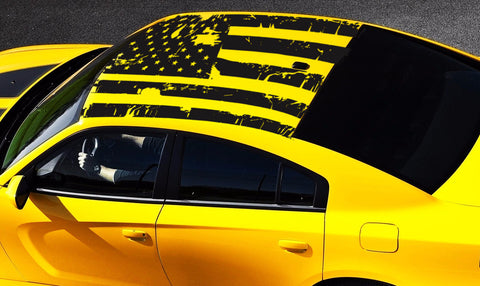 2006-2020 Dodge Charger American USA Flag Roof Decal
