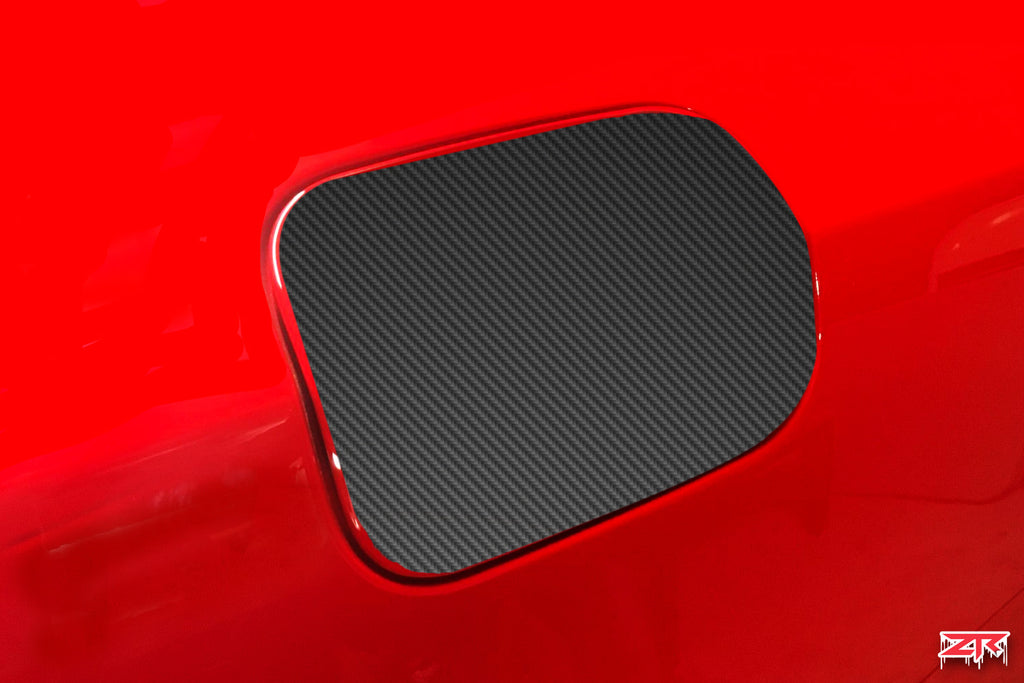 Dodge Charger Carbon Fiber Fuel Door Vinyl Decal