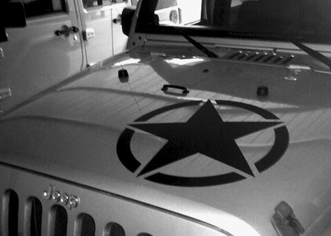 JEEP Hood Star Decal - ztr graphicz
