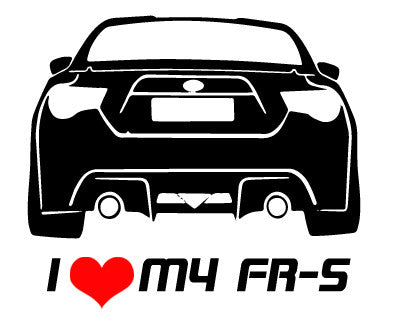 Scion I Love My FR-S 86 Decal - ztr graphicz