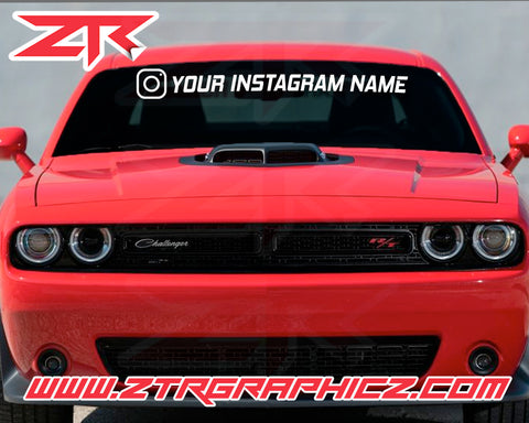 Custom Instagram Windshield Vinyl Decals