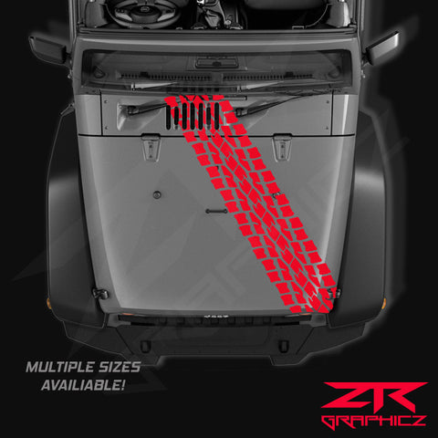 Jeep Tire Tread Hood Decal - ztr graphicz