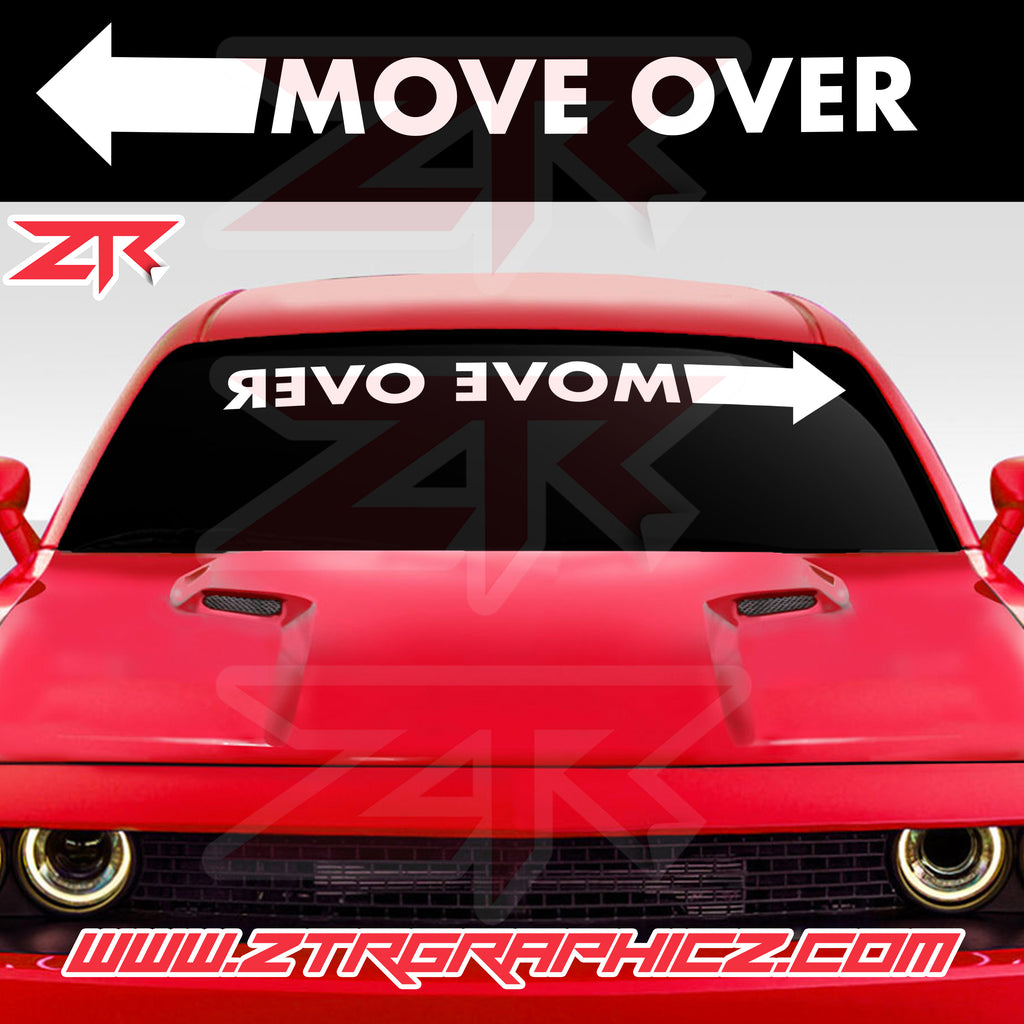 Custom Move Over Universal Windshield Banner Decal