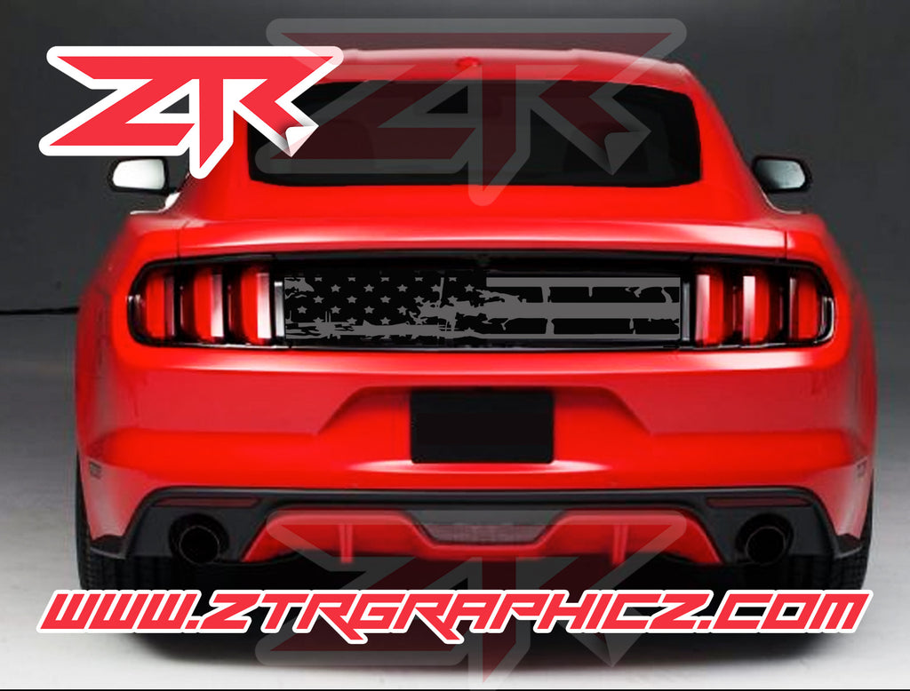 2005-2019 Ford Mustang Distressed Flag Trunk Lid  Decal