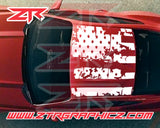 2015-2019 Mustang Distressed American USA Roof Flag Decal