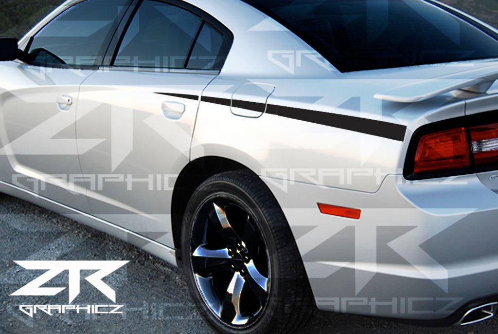2011-2014 Dodge Charger Quarter Spear Stripe Vinyl Graphics Kit