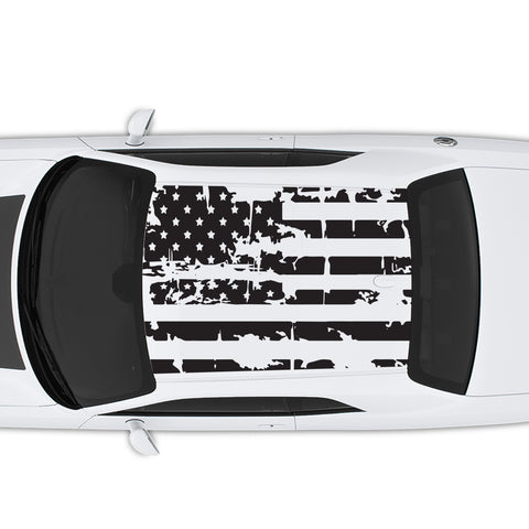 2008-2020 Dodge Challenger American USA Flag Roof Decal
