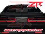 2015-2020 Dodge Challenger Scatpack Honeycomb Blackout Taillight Divider Decal