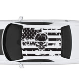 2006-2020 Dodge Charger American USA Flag With Skull Decal