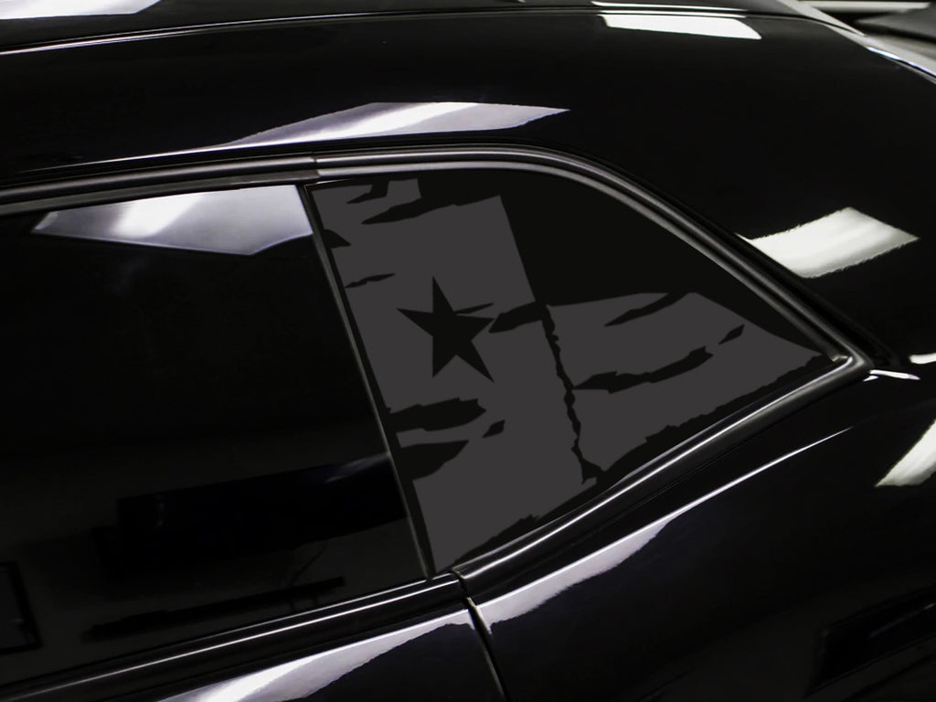 Dodge Challenger Texas Distressed Flag Window Decal