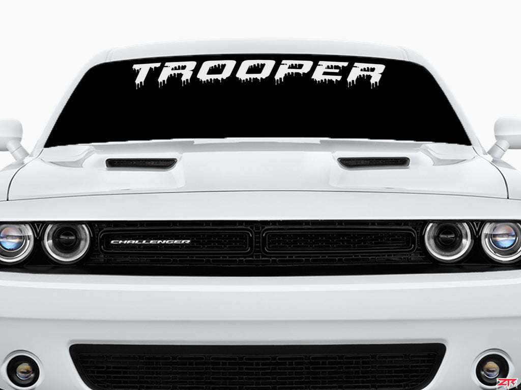 Custom Dodge Challenger Dripping Trooper Windshield Vinyl Decal