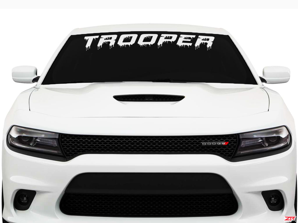 Custom Dodge Charger Dripping Trooper Windshield Vinyl Decal