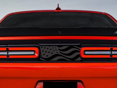2015-2020 Dodge Challenger USA Waving Flag Taillight Divider Decal