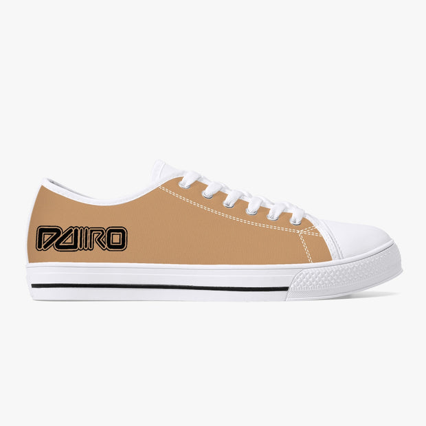 DDIIRO Classic Low-Top Canvas Shoes - White/Black