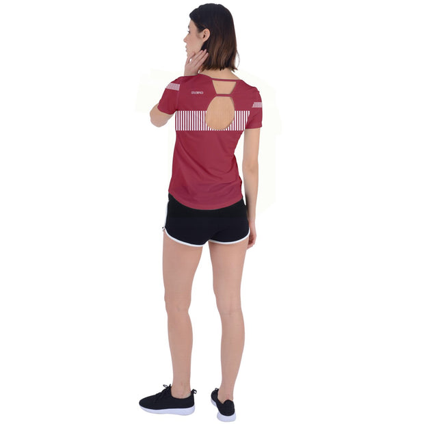 DDIIRO Back Circle Cutout Sports Tee