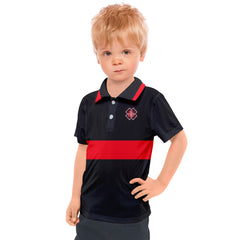 DDIIRO RED BLACK Kids' Polo Tee