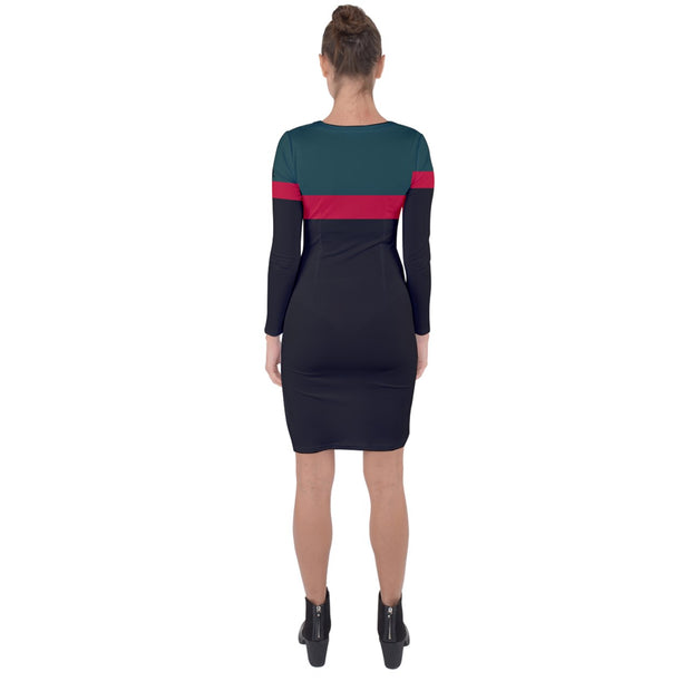 DDIIRO Asymmetric Cut-Out Shift Dress