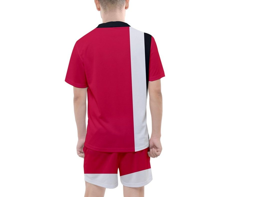 DDIIRO Men's Mesh Tee and Shorts Set