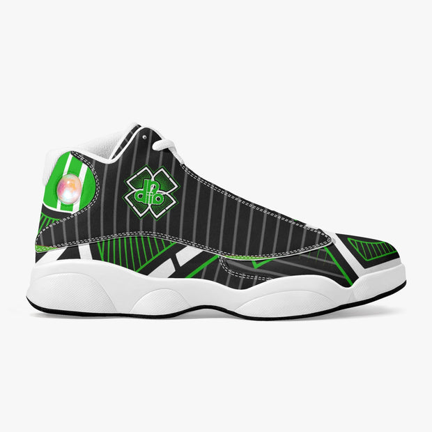 DDIIRO Top Leather Basketball Sneakers - White/Green