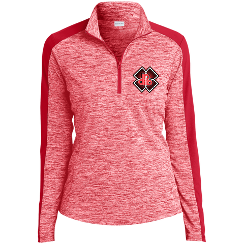 DDIIRO  Ladies' Electric Heather Colorblock 1/4-Zip Pullover