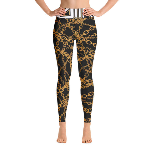 DDIIRO Gold Chain Yoga Leggings
