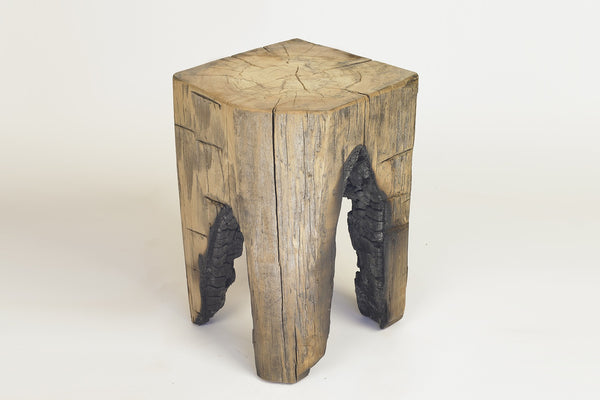 Hunter's Square Log Stool - Burnt Island Collection