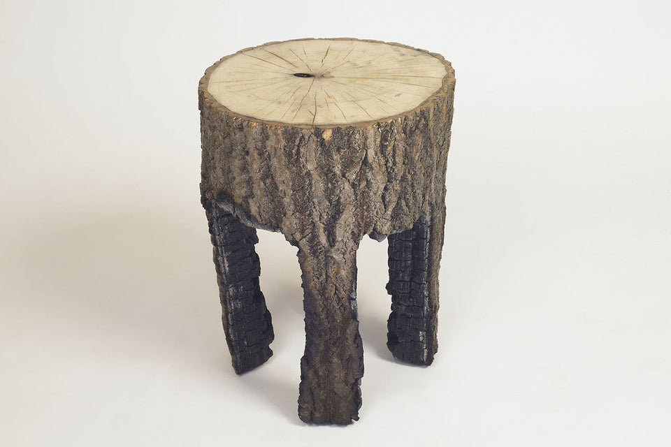 Hunter's Round Log Stool - Burnt Island Collection
