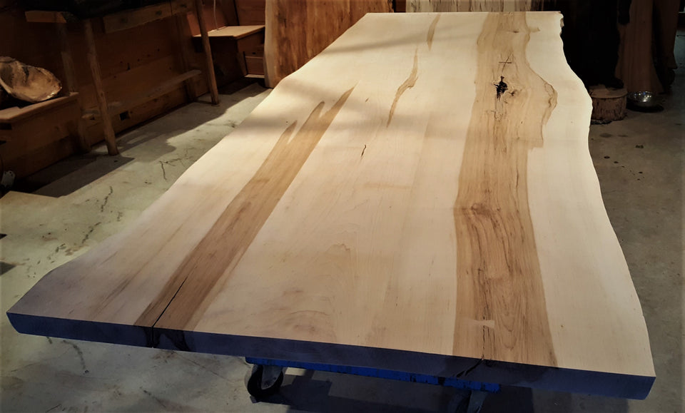 Incomplete Live Edge Maple Table - 1