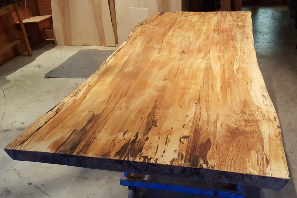 Incomplete Live Edge Spalted Maple Table - 2