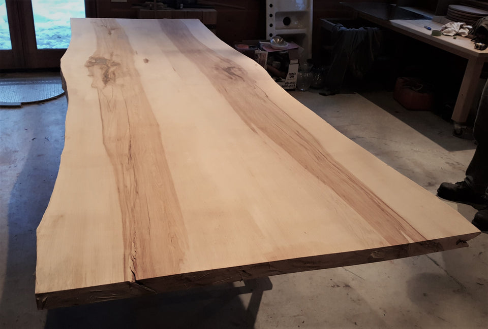 Incomplete Live Edge Maple Table - 2