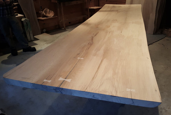 Incomplete Live Edge Red Oak Table - 1