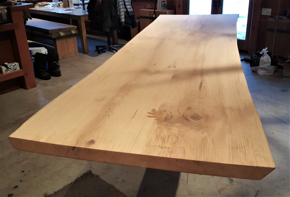 Incomplete Live Edge Red Oak Table
