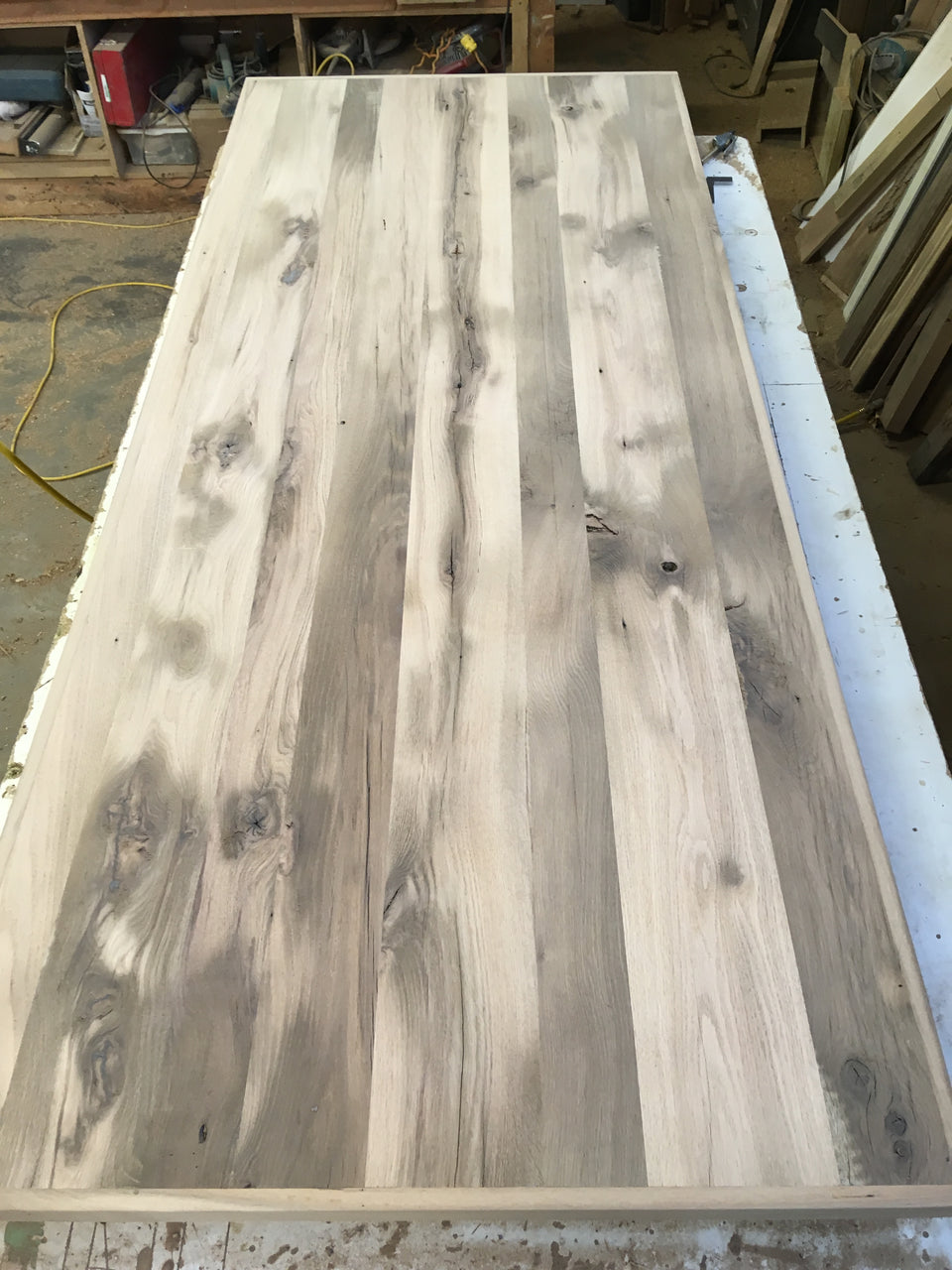 Incomplete Antique White Oak Table top. SKU AO2