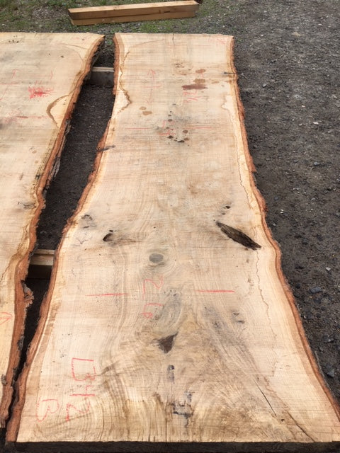 Red Oak Slabs: 2 Slab Table Set. 106 b/f. SKU 1342-19
