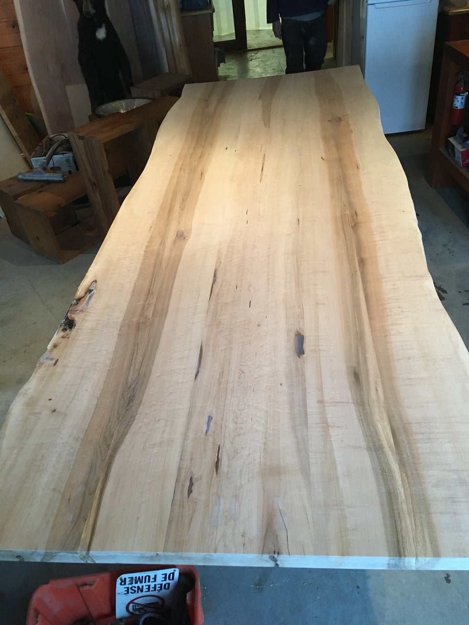 Incomplete Live Edge, Birds Eye Maple Table: BEM1