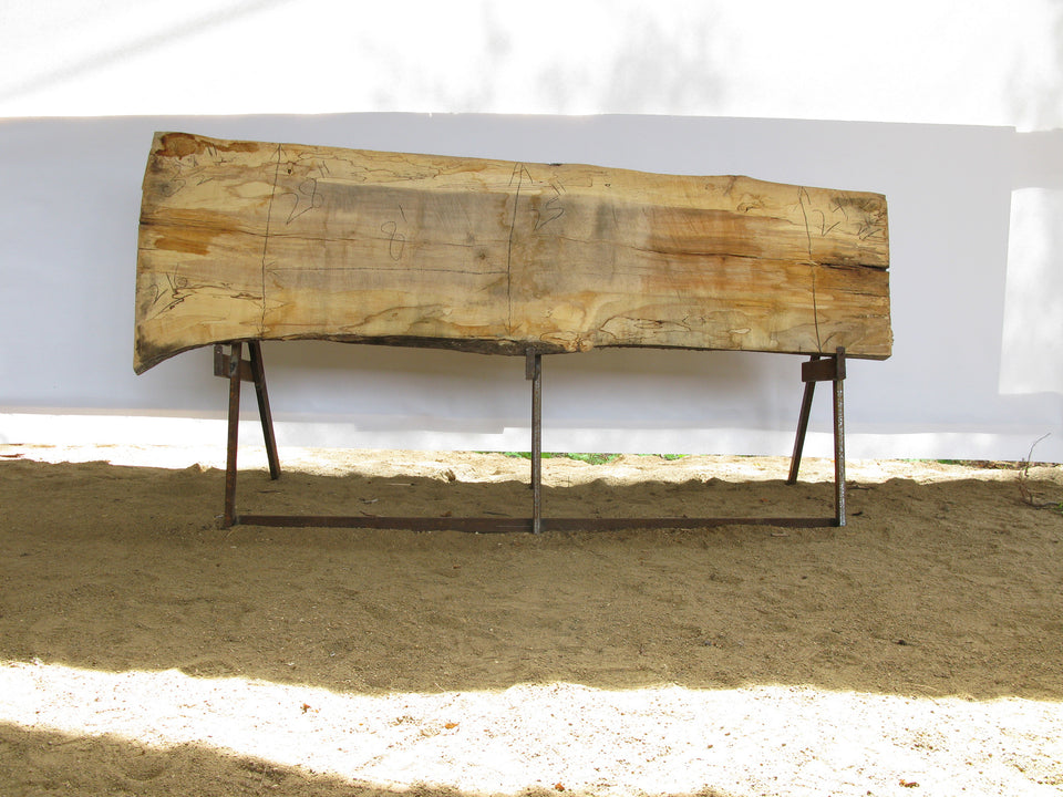 "Spalted Maple B Slab 3.5"" x 26"" x 8' SPM-216"