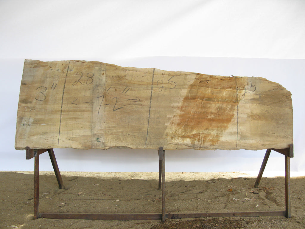 "Spalted Maple A Slab 3"" x 25"" x 7' MAP-237"