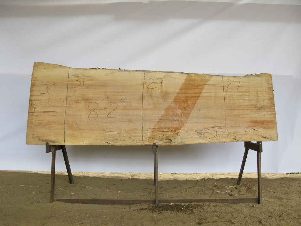 "Spalted Maple A Slab 3"" x 29"" x 8.17' SPM-251"