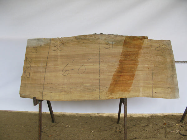 "Spalted Maple A Slab 3"" x 30"" x 6' SPM-255"
