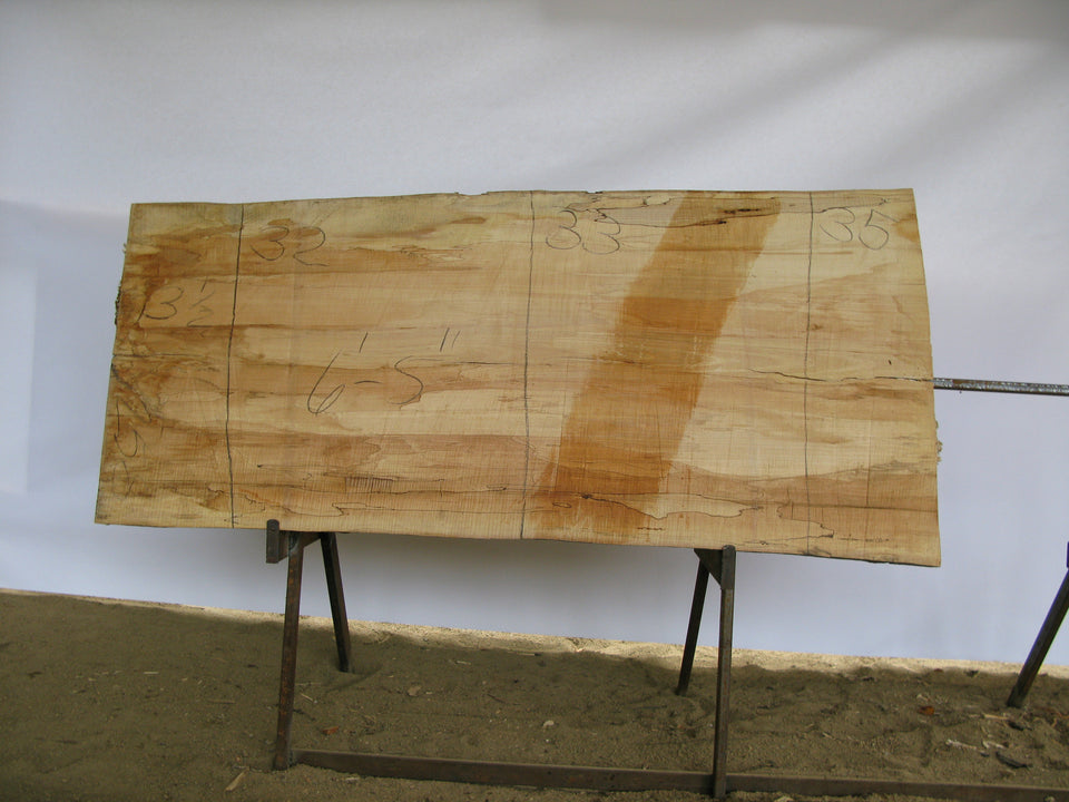 "Spalted Maple B Slab 3.5"" x 33"" x 6.42' SPM-258"